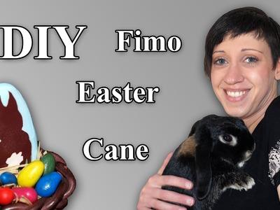 FIMO Osterhasen Cane: Polymer Easterbunny - Tutorial [HD.deutsch] (EN-Sub)