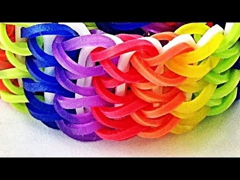 Loom Bandz Anleitung Deutsch Armband Quadra-single (Rainbow Loom Deutsch Loom Bands Armband