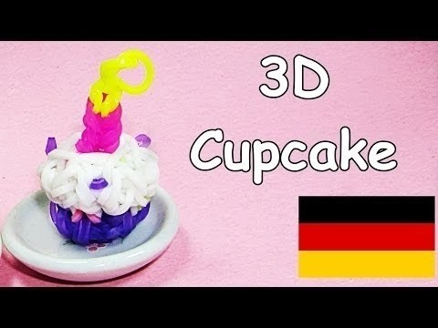 Loom Bandz Anleitung Deutsch Cupcake Rainbow Loom Deutsch Loom Bands 3D
