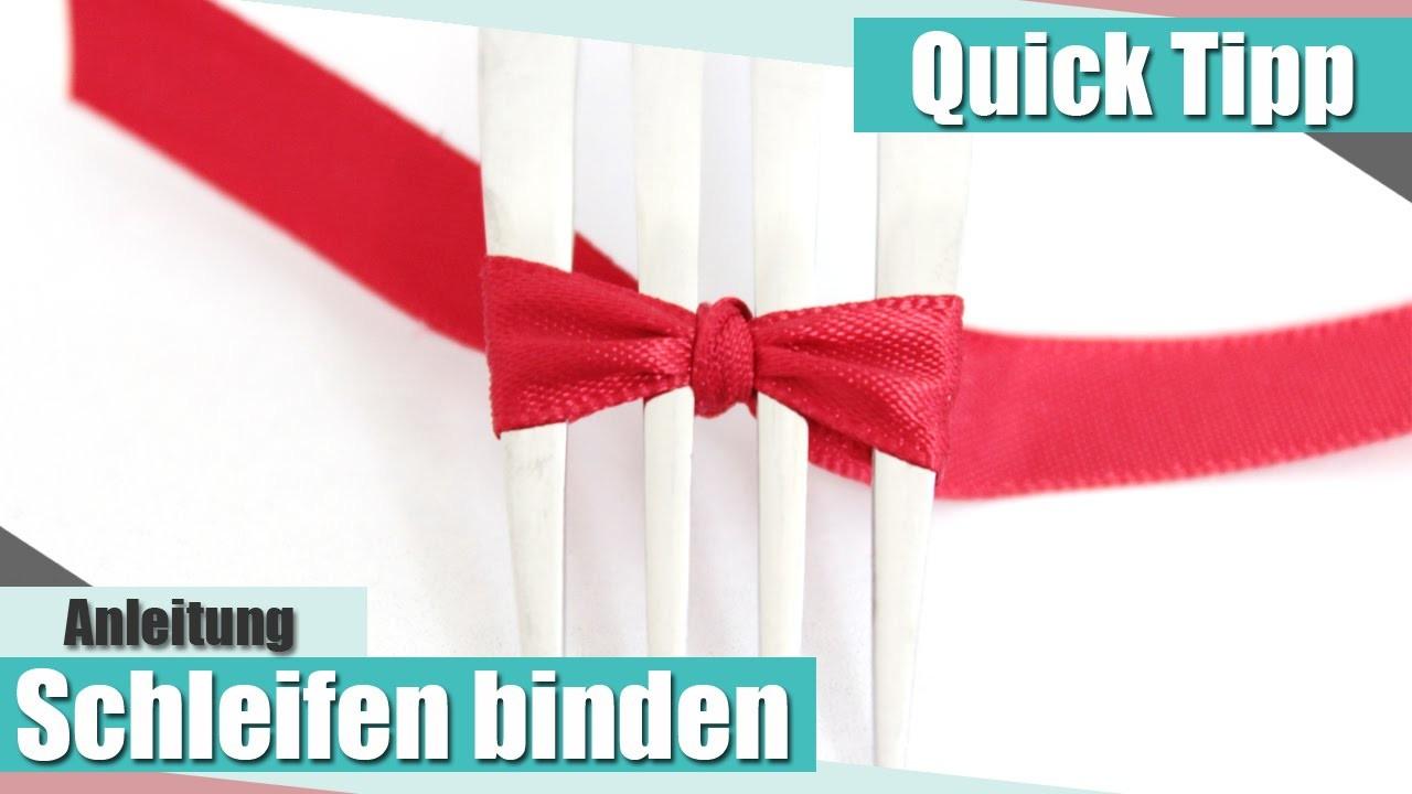 [Quick Tipp] Schleifen binden. How to tie a bow | Anielas Fimo