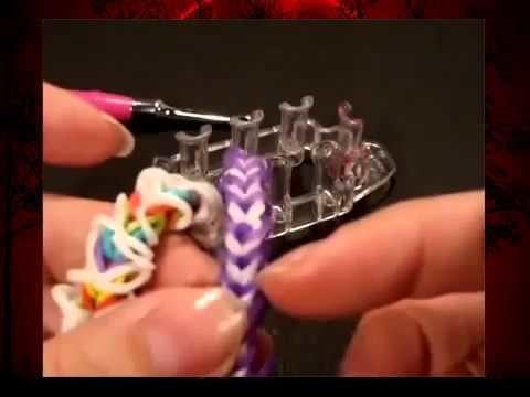 Rainbow Loom Monster Tail Armband. Fishtail Armband Var. 3. Loom Bandz Anleitung deutsch