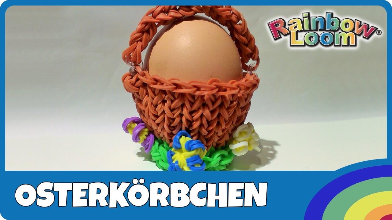 Rainbow Loom Osterkörbchen - deutsche Anleitung