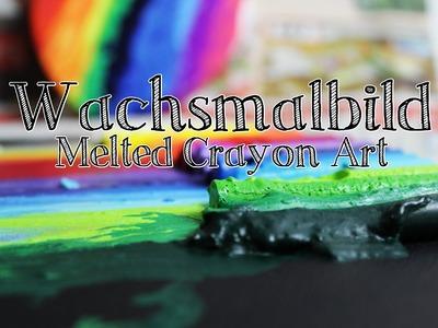 Wachsmalbild - Melted Crayon Art | DIY