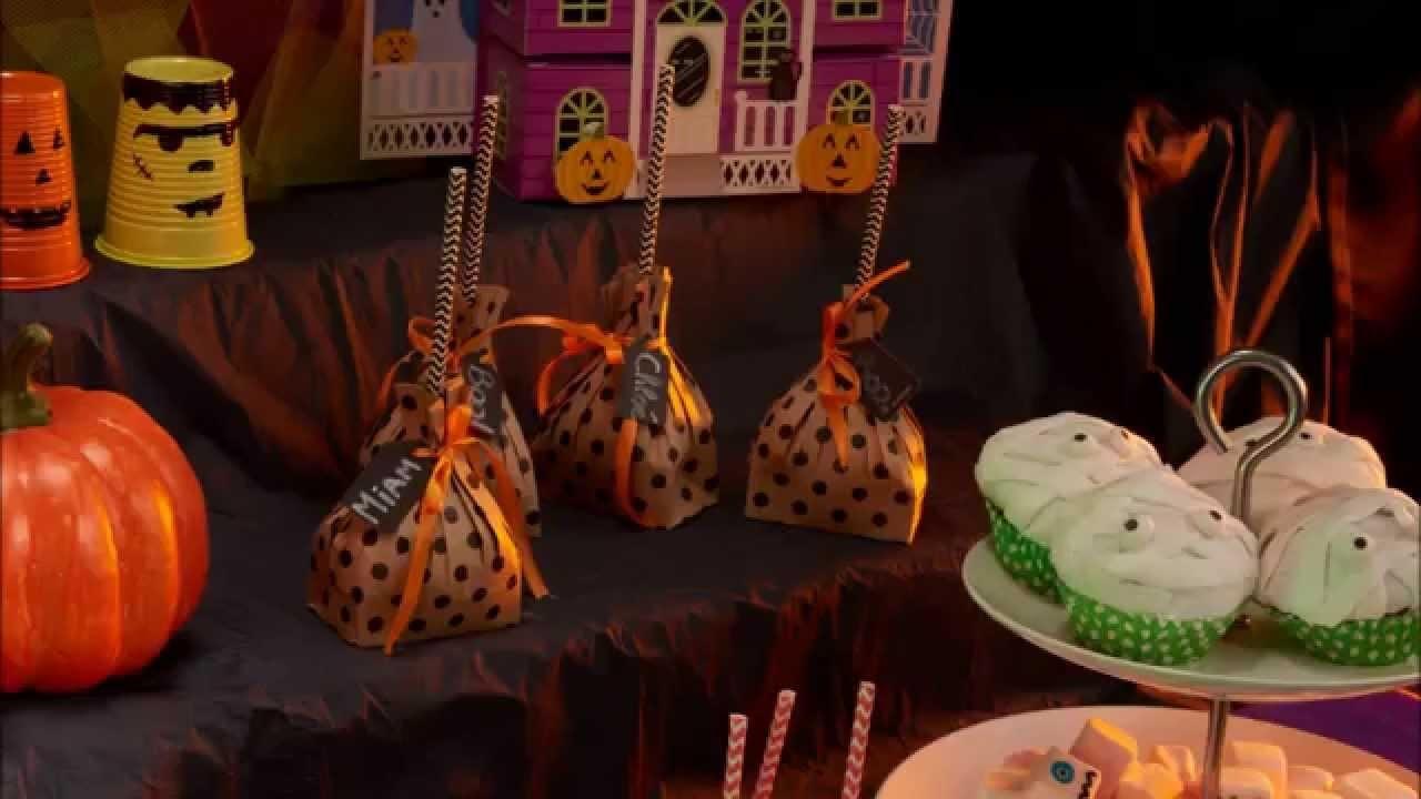Bonbons Tüten DIY Tutorial für Halloween
