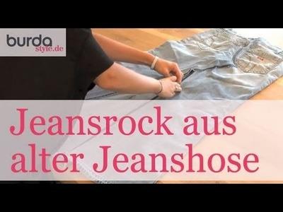 Burda style – Upcycling: Jeansrock aus alter Jeanshose nähen