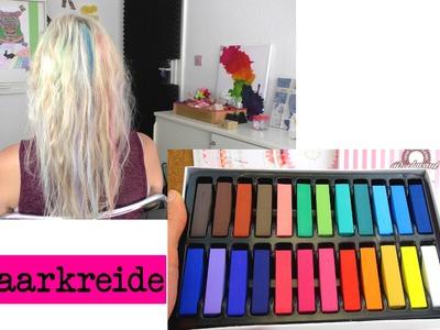 Haare färben mit Haarkreide. Kreide in verschiedene Farben im Test. DIY Inspiration