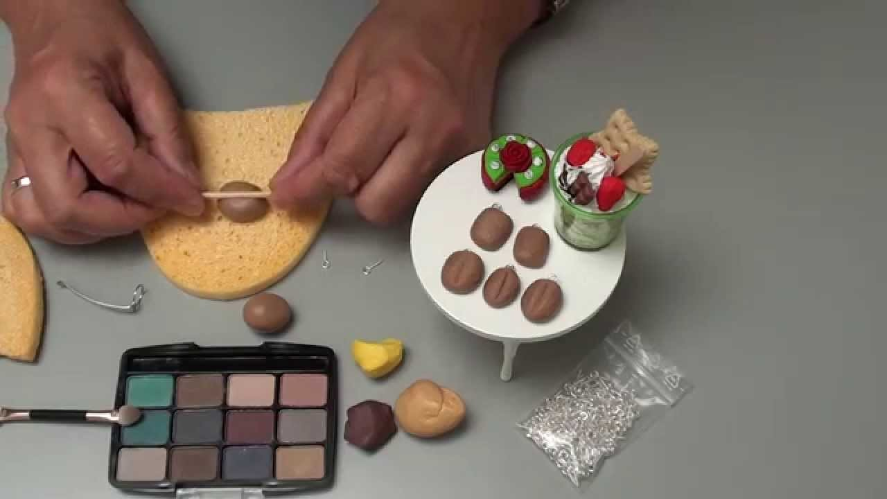 (Tuto Fimo)Leckere Brötchen, Schwamm für die Struktur Polymer Clay