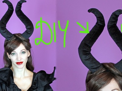DIY Maleficent Hörner, 2 Variationen - Halloween 2015 #2