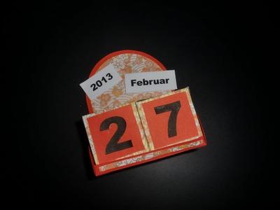 Kalender aus Papier: Calendar Paper-ART - Bastelanleitung [HD.deutsch]