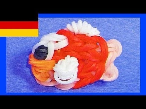Loom Bandz Anleitung Deutsch Fisch (Rainbow Loom Deutsch Loom bands Tiere)