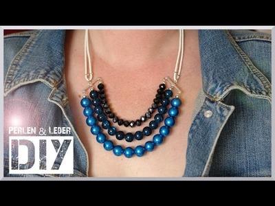 Schmuck selber machen: Kette Perlen&Leder [diy]
