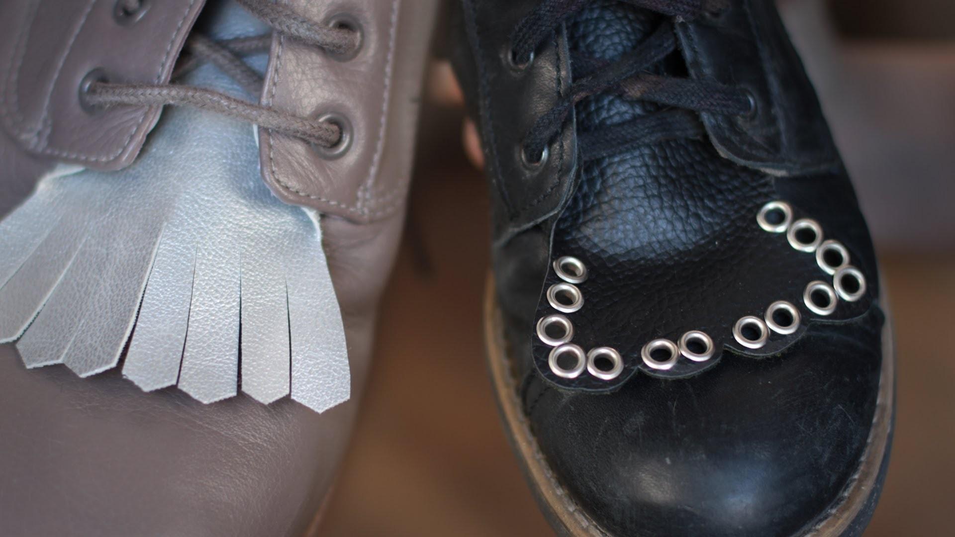 DIY Schmuck für Schnürschuhe - Stiefel Accessoire - pimp your boots - Nieten, Leder