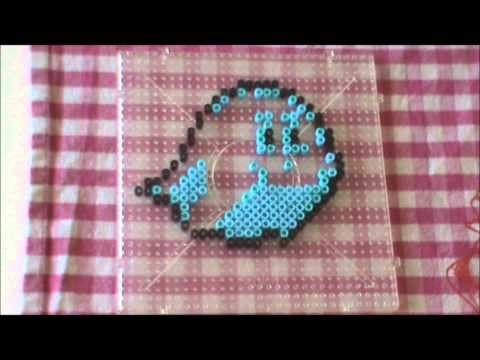 Perler Beads Pattern Kawaii Series #8 Kirby Ghost  かわいい