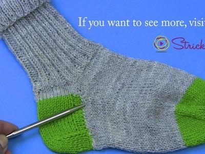 Projekt: Sockenstricken hier Stricken des Spickels 6. Teil