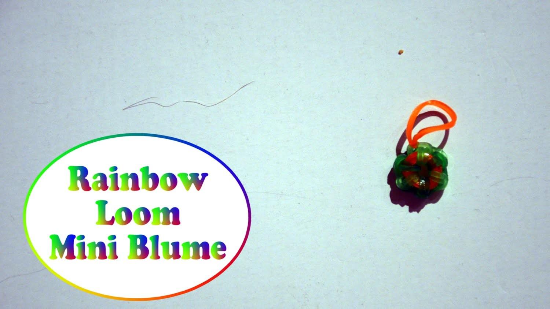 Rainbow Loom Mini Blume (deutsche Anleitung)