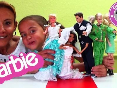Barbie Modenschau Teil 2 DIY selbst gemachte Mode - Häkeln Stricken - Kinderkanal