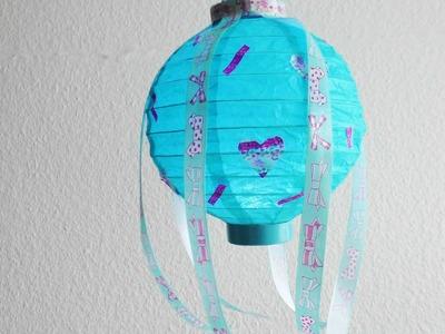 DIY Lampe gestalten | Lampion dekorieren | Zimmer Deko selber machen | Roomdekor