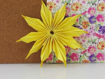 Blume aus Papier selber machen | Zimmerdeko | Falten modulare Blume DIY