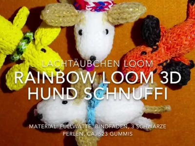 Rainbow Loom 3D Hund Schnuffi