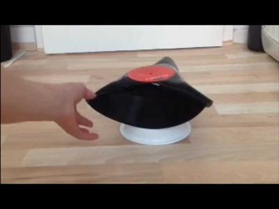 Schallplatten schüssel: Aus einer Schallplatte eine Schale machen