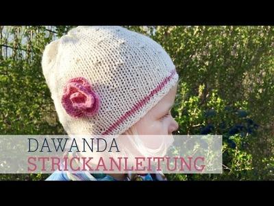DaWanda Strickanleitung: Sommerliche Kindermütze