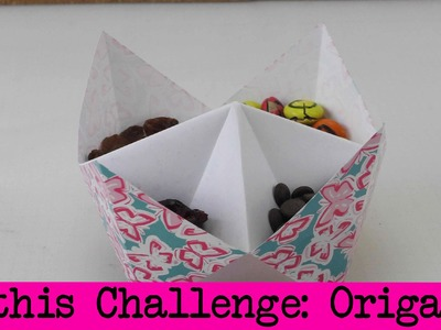 DIY Inspiration Challenge #19 Origami | Kathis Challenge | Tutorial - Do it yourself