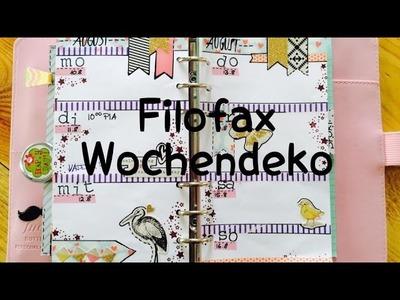 DIY---Wochendeko---Planer---KW33 | Filofax [tutorial | Vlog] ^^