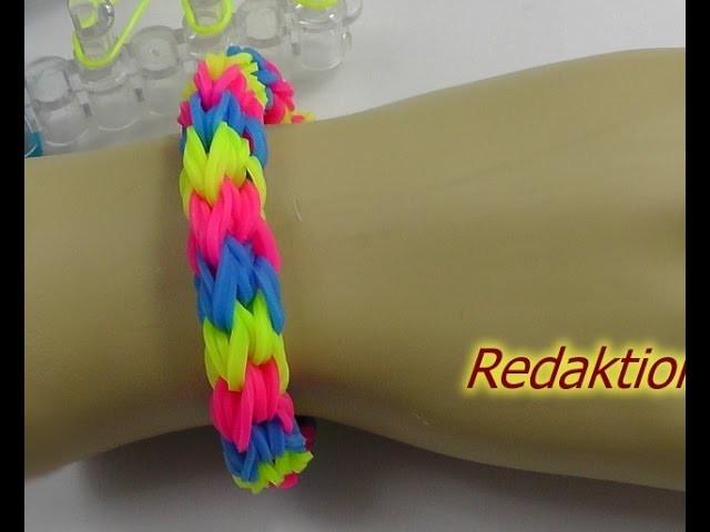 Loom Bands mit Rainbow Loom Anleitung Deutsch - I