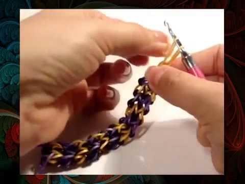 Loom BAnz Armband mit Rainbow Loom Anleitung deutsch