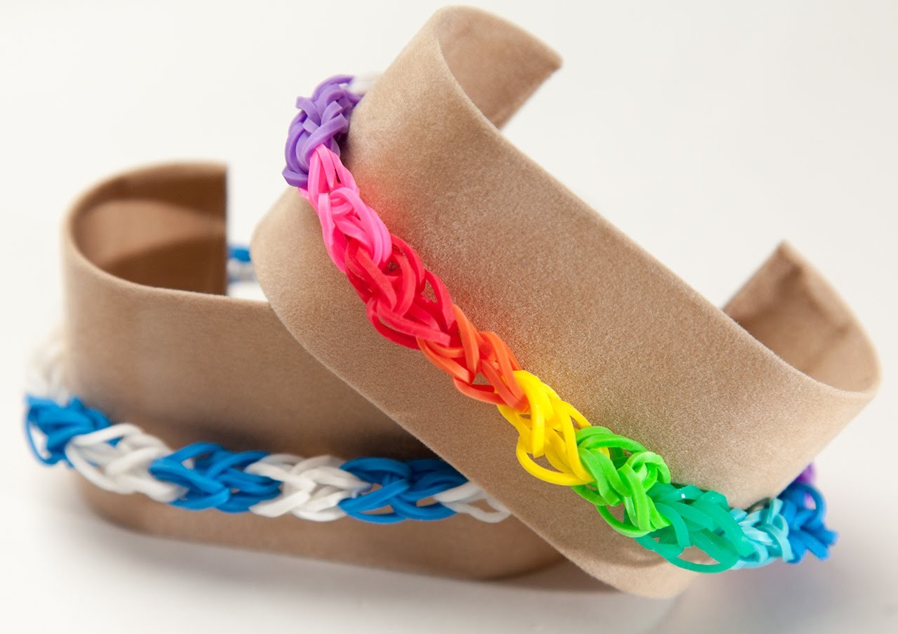 Rainbow Loom Diamond Armband Deutsch