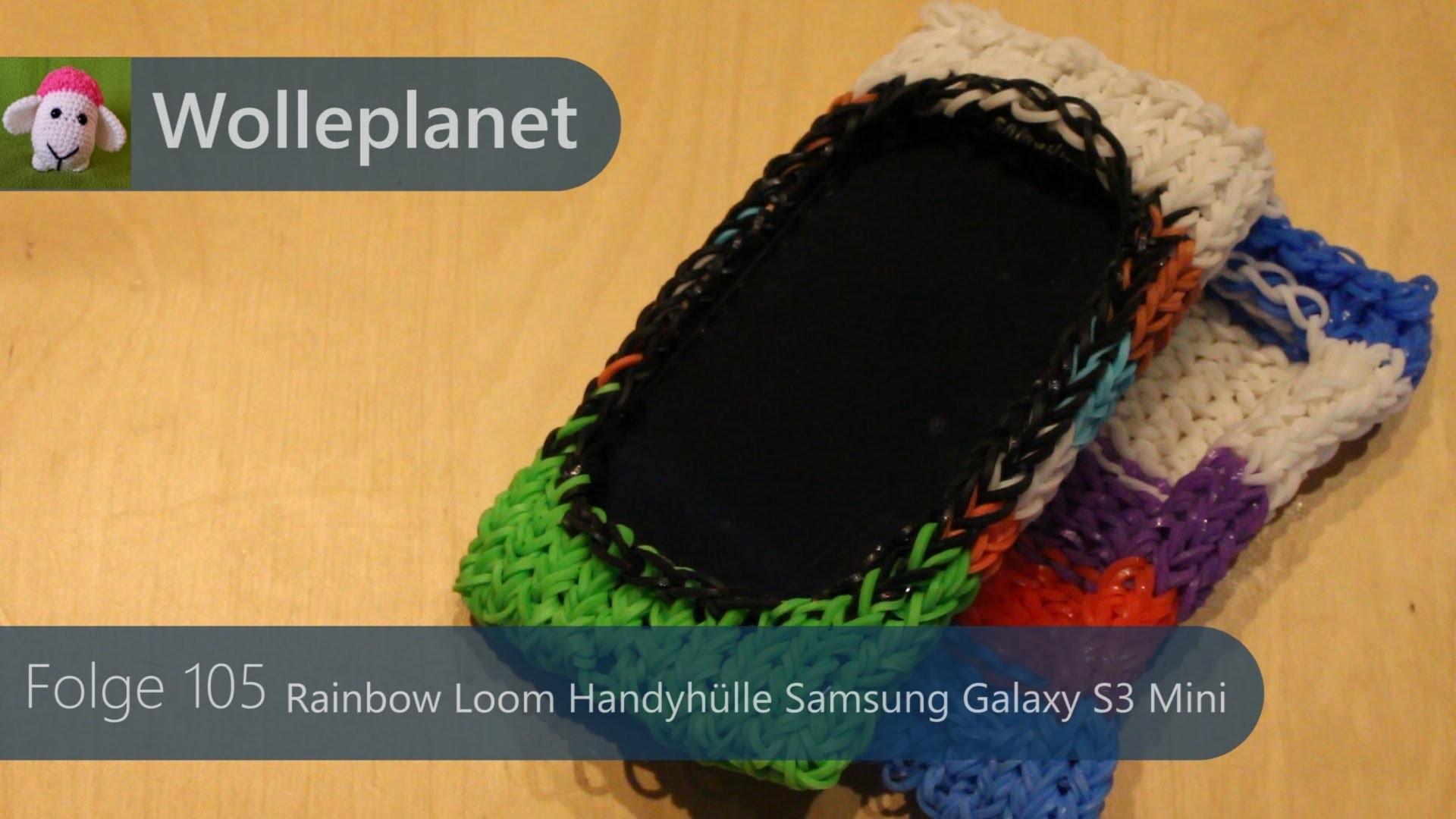 Rainbow Loom Handyhülle mini mit Loom