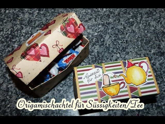 [Tutorial] Geschenkverpackung. Gift-box für Tee oder Süssigkeiten etc. von Karinas Bastelzeit