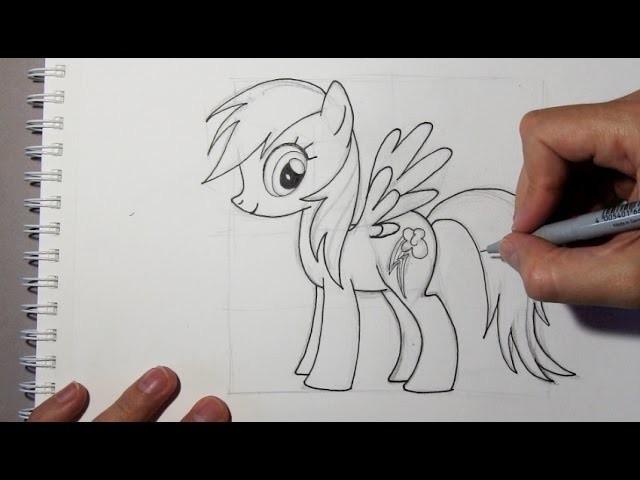 Wie zeichnet man Rainbow Dash aus My Little Pony