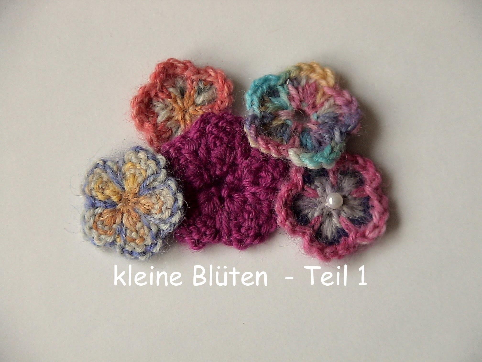 13.3 - STRICKEN : kleine Blüte - Teil 1