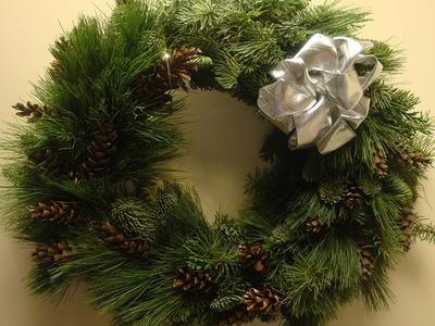 Dekoideen Weihnachten   Türkränze selber machen  Tutorial DIY