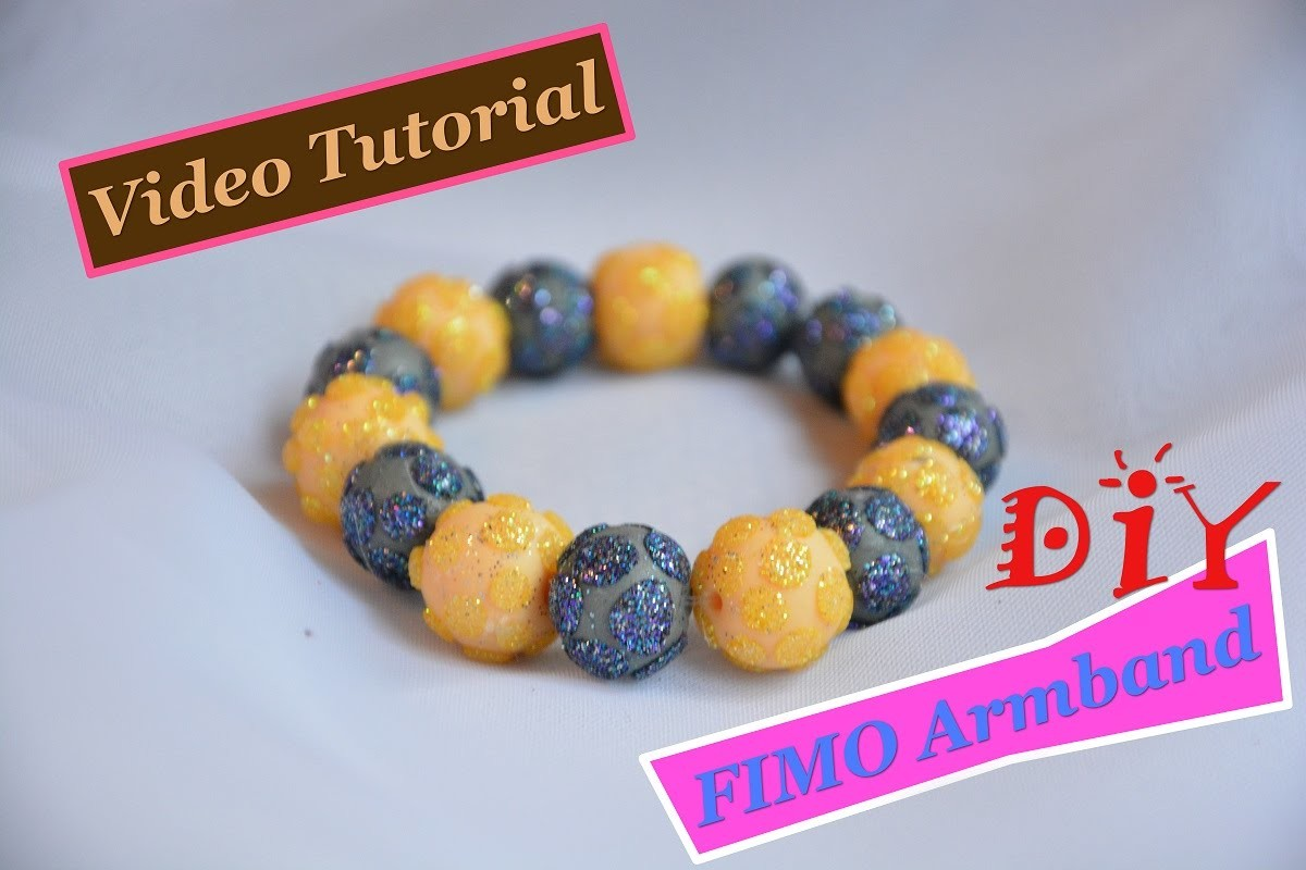 Glizzer Armband selber machen aus Fimo!! DIY