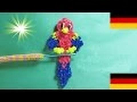 Loom Bandz Anleitung Deutsch Papagei (Tiere, Rainbow Loom Deutsch Loom Bands)