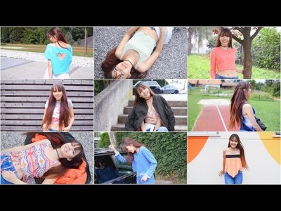 15 Crop Top DIY's | + Lookbook | T-Shirt DIY's | ViktoriaSarina