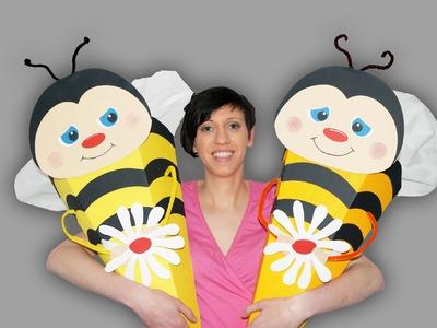 Biene auf Schultüte - Bastelanleitung