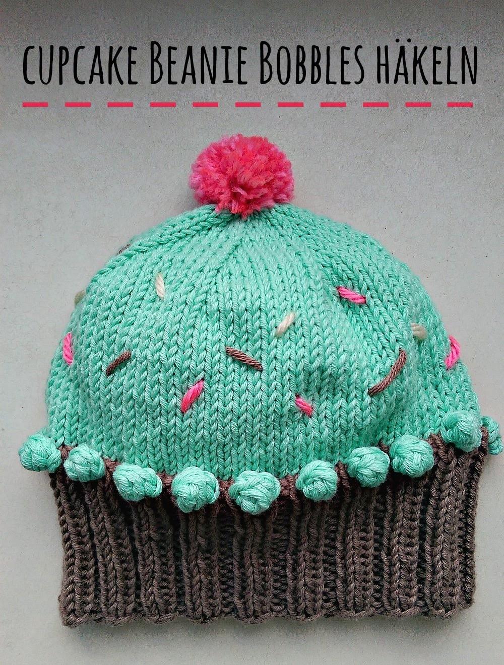 Cupcake Beanie: Bobbles häkeln