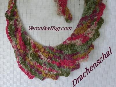Häkeln- Drachenschal SANREMO - Woolly Hugs BANDY  04 - Veronika Hug