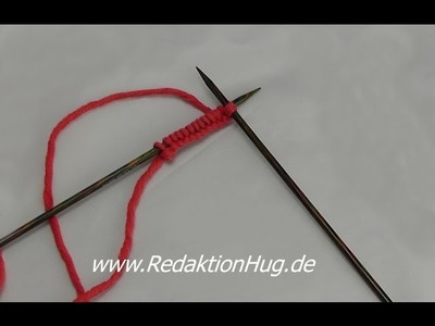 Stricken - Der einfach Anschlag - Maschen anschlagen einfach