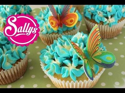 Zitronen-Cupcakes. Hyazinthen Dekoration. Blumen Cupcakes. Flower Cupcakes