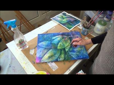 Acrylmalerei - Auswaschtechnik - Teil 2