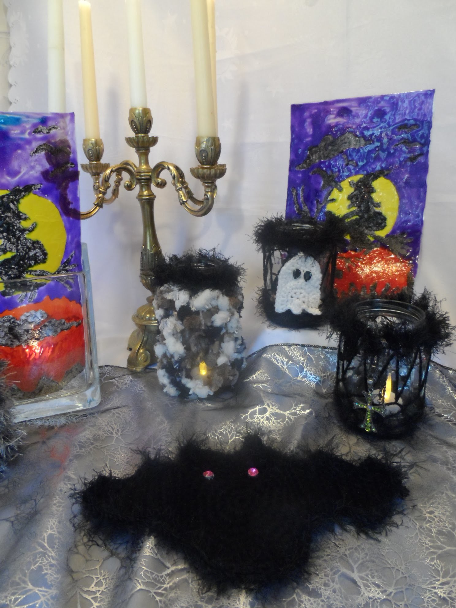 DIY:keka FLIEGENDE  Halloween Fledermaus häkeln ;Party DEKO selber machen