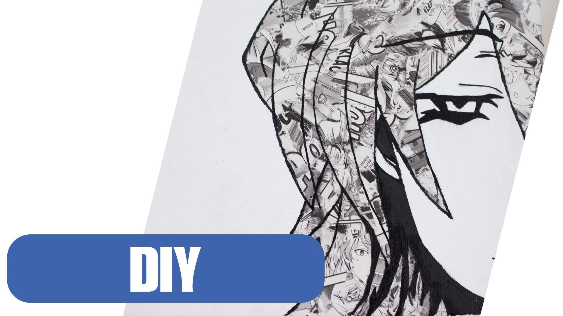 DIY: Leinwand Deko im Manga Style selber machen! | Canvas DIY