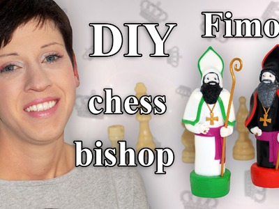 FIMO Läufer: Polymer Clay Chess Bishop - Tutorial [HD.DE] (EN-Sub)