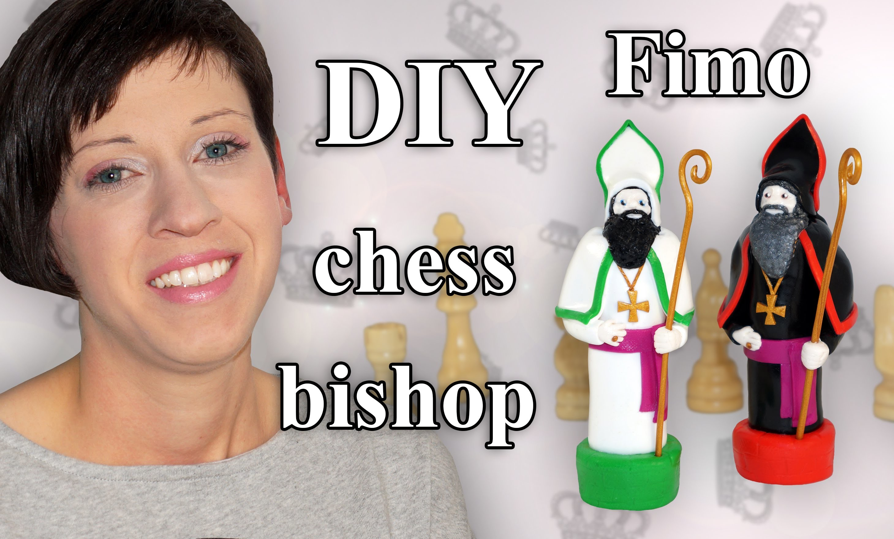 FIMO Läufer: Polymer Clay Chess Bishop - Tutorial [HD.DE] (EN-Sub)