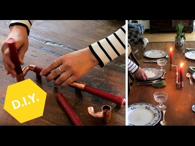 Geburtstagstafel- und Kerzenständer DIY