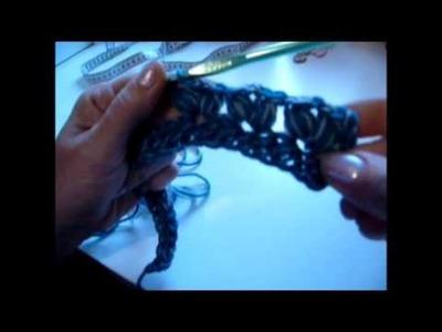 Knopfloop häkeln - crocket a Loop - Schal - Scarf - Anfänger geeignet
